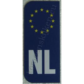 NL sticker kentekenplaat ca. 4,4 cm bij 9,8 cm