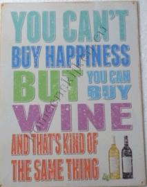 metalen wandplaat buy wine 30-40 cm