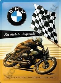 blikken wandbord BMW finishvlag 30-40 CM