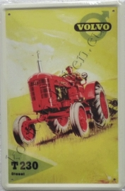 metalen ansichtkaart volvo tractor 10-14 cm