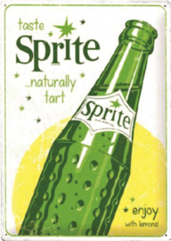metalen reclamebord Sprite enjoy with lemons 30 x 40 cm