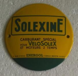 emaille bord Solexine 10 cm rond