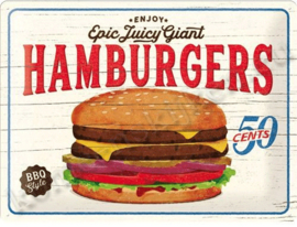 gebolde wandplaat hamburgers 50 cents 30-40 cm