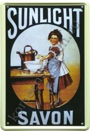 metalen ansichtkaart sunlight savon 10-14 cm