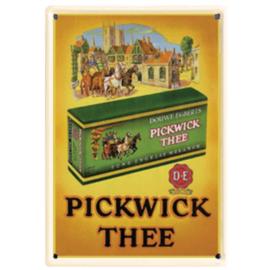 metalen ansichtkaart pickwick thee 10-14 cm.