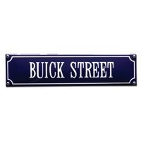 emaille straatnaambord buick street