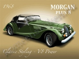 metall wall sign morgan plus 8 30-40 cm