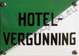 emaille bord hotelvergunning in 2 maten