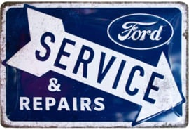 metalen wandplaat Ford Service & Repairs 20 x 30 cm