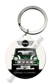 ronde sleutelhanger mini cooper green