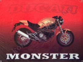 metalen affiche ducati monster 30-40 cm