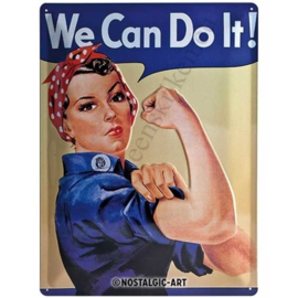 metalen wandbord we can do it! 30x40 cm