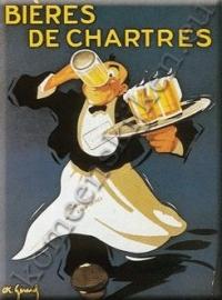 metalen ansichtkaart bieres de chartres / ober 15-21 cm