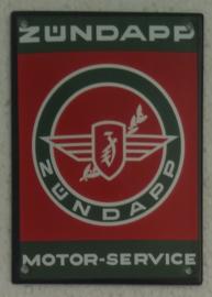 emaille bord Zündapp motor service 10x14 cm