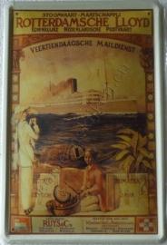 nostalgische wandplaat rotterdamse lloyd 20-30 cm