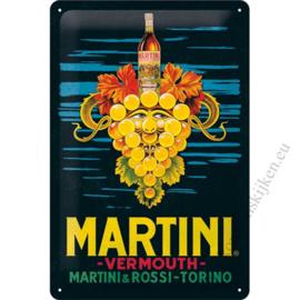 metalen reclamebord Martini vermouth 20x30 cm