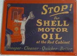 wandplaat shell, stop! for motor oil 30-40 cm