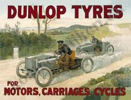 blikken reclamebord Dunlop tyres 30-40 cm