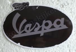 zwarte vespa sticker met bij / bee old school stijl