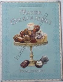 metalen wandplaat masters chocolatiers 30-40 cm