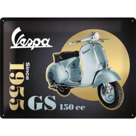 Metalen wandbord Vespa GS since 1955 30x40 cm