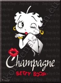 metalen ansichtkaart Betty Boop kiss 15-21 cm