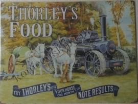 metalen wandbord thorley's stoomtractor 30-40 cm