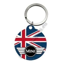 ronde sleutelhanger mini vlag uk / union jack