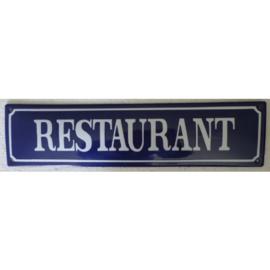 emaille straatnaambord  restaurant 33-8 cm