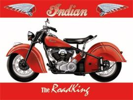 metalen wandplaat Indian the Roadking 20x30 cm