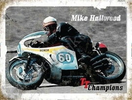 metalen wandbord mike hailwood 30-40 cm