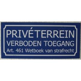 sticker privéterrein / verboden toegang groot