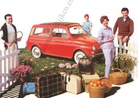 metal card Fiat 500 stationwagen 15x21 cm