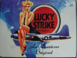 metalen wandplaat lucky strike 30-40 cm