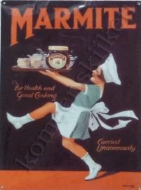 metalen reclameplaat  marmite 30-40 cm