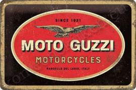blikken muurbord Moto Guzzi motorcycles 20-30 cm
