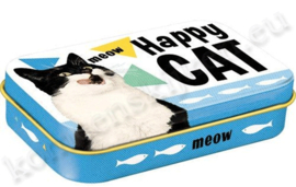 blikken doosje Pet Treat Box Happy Cat NA82204