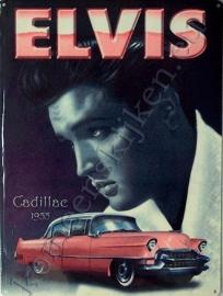 blikken bord Elvis Cadillac 30-40 cm
