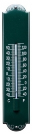emaille thermometer deco groen