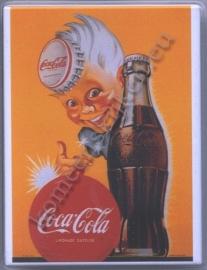 koelkast magneet coca cola jongen geel