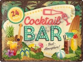 blikken wandplaat Cocktail bar 30-40 cm