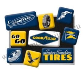 magneet set Goodyear logo's