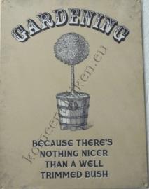 metalen wandplaat gardening 30-40 cm