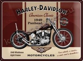 metalen wandplaat harley davidson panhead 30-40 cm..