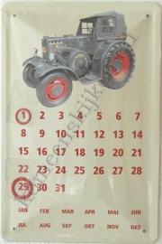 metalen kalender lanz beige