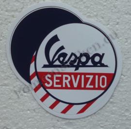sticker vespa servizio drie cirkels