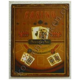 vlak metalen bord casino 21  20-25 cm.