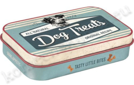 blikken doosje dog treats box Blue