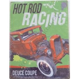 wandplaat hot rod racing 30-40 cm