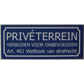 sticker privéterrein / verboden voor onbevoegden groot